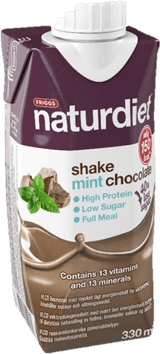 Naturdiet Shake Mint Chocolate, 330ml - Pirtelöt & Smoothiet - 7350028545360 - 1