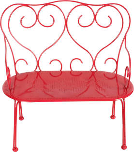 Maileg Metal Bench Medium, Red - Maileg - 5707304037941 - 1