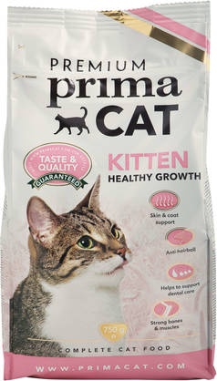 Premium PrimaCat Kitten Healthy Growth, 750g - Kissan Penturuoka - 6430030776622 - 1