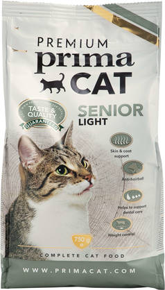 Premium PrimaCat Senior Light, 750g - Senior Kissanruoka - 6430030776653 - 1