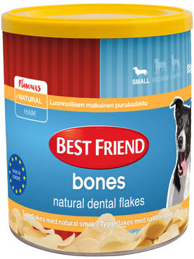 Best Friend Bones Dental Flakes Natural, 85g - Hampaidenhoitoherkut - 5700551128424 - 1
