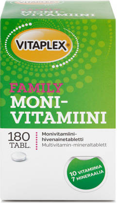 Vitaplex Monivitamiini Family, 180tabl - Monivitamiinit - 7310612211415 - 1