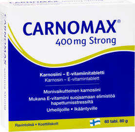 Carnomax Strong 400, 60tabl - Iho, Kynnet & Hiukset - 6428300003455 - 1