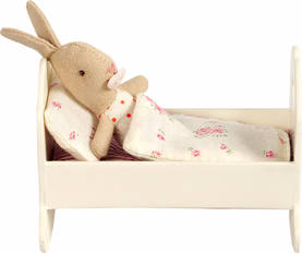 Maileg Small Wooden Cradle, Offwhite - Maileg - 5707304044116 - 1