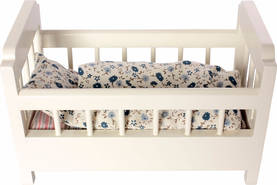 Maileg Wooden Cot-Bed, Offwhite - Maileg - 5707304075776 - 1