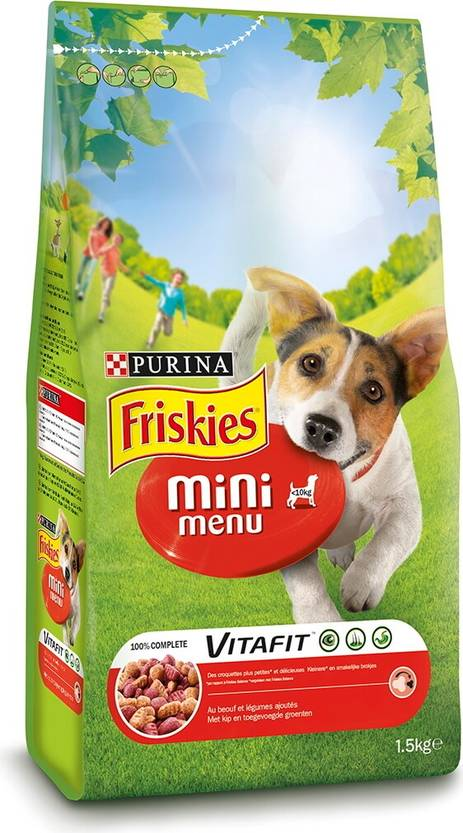 Friskies Vitafit Mini Menu Naudanliha, 1,5kg - Friskies - 3222270146197 - 1