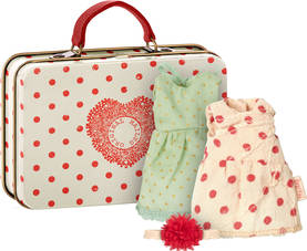 Maileg Bigsister suitcase, with 2 sets of clothes - Maileg - 5707304086079 - 1