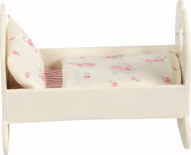 Maileg Small Wooden Cradle, White - Maileg - 5707304008859 - 1
